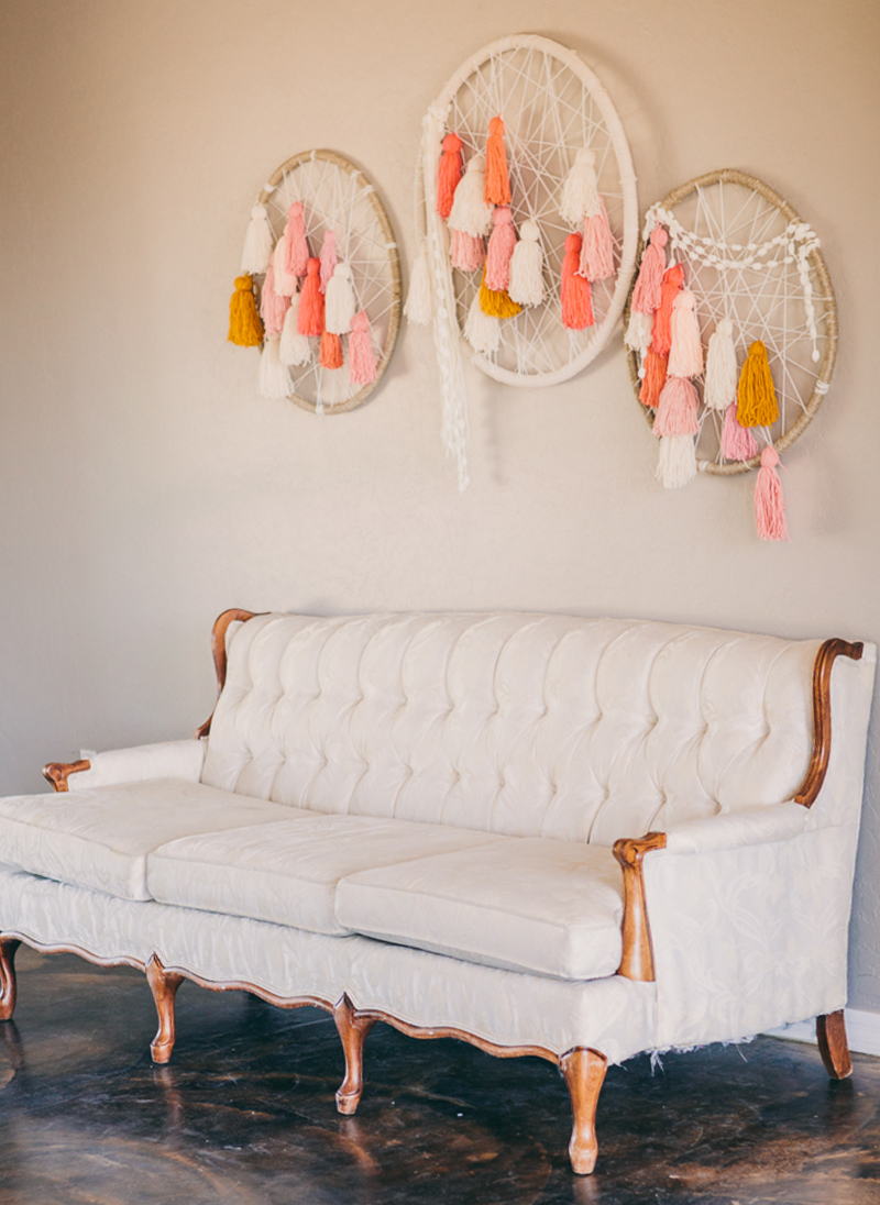 couch and dream catchers