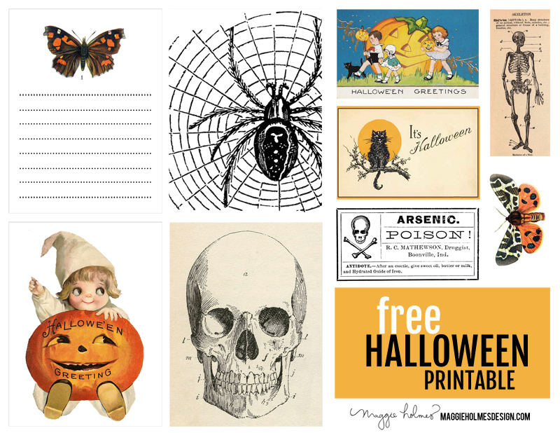 photograph about Vintage Halloween Printable named No cost Common Halloween Printables » Maggie Holmes Design and style