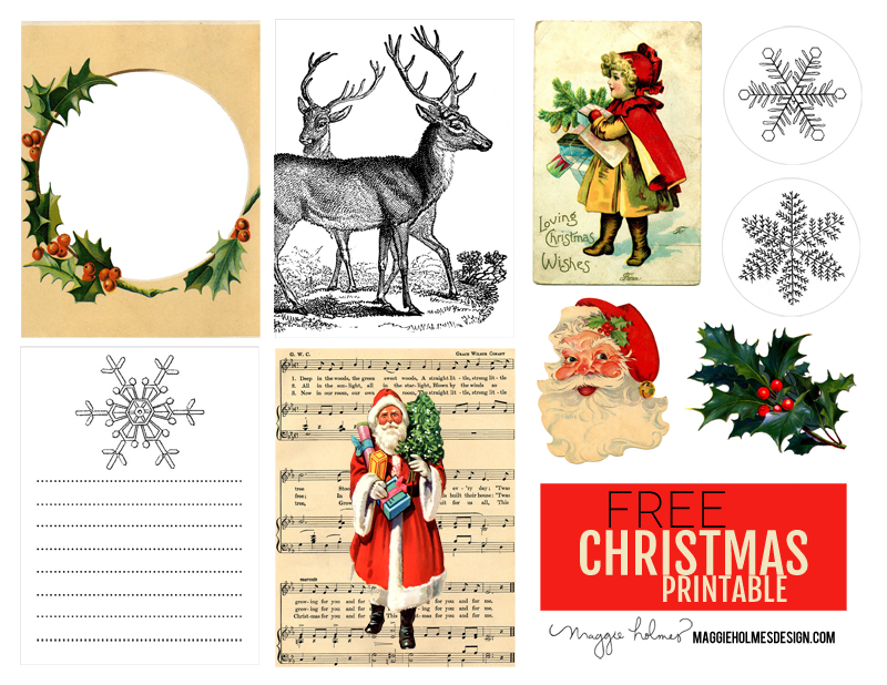 image about Free Printable Christmas Clip Art called Absolutely free Xmas Printable Typical Xmas Clip Artwork
