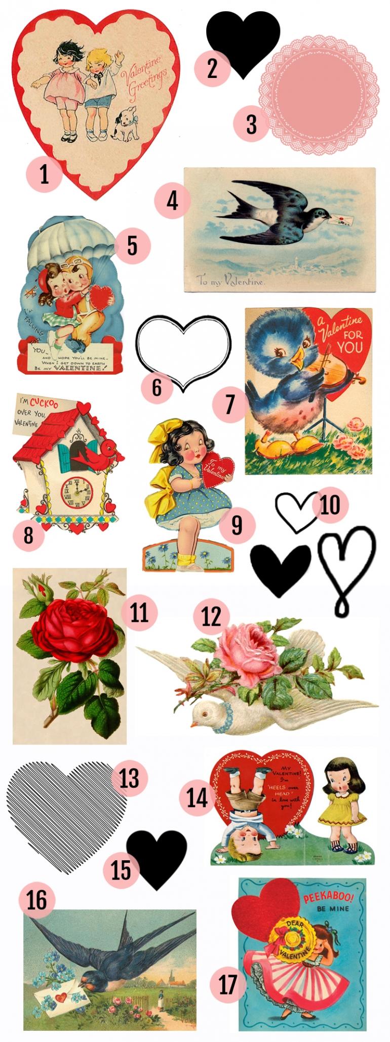 Free Valentine's Day Printable & Vintage Clip Art » Maggie ...