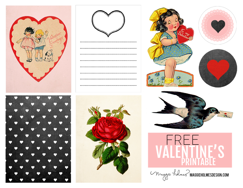 photo relating to Valentine Clip Art Free Printable called Totally free Valentines Working day Printable Clip Artwork! » Maggie Holmes
