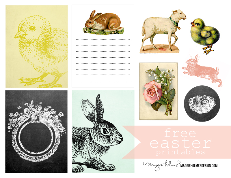 Easter bunny printable. Free vintage clipart images