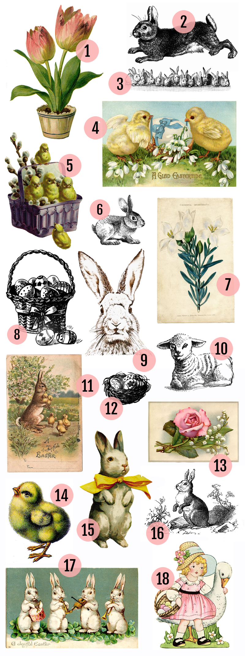 Maggie Holmes Vintage Easter Printables