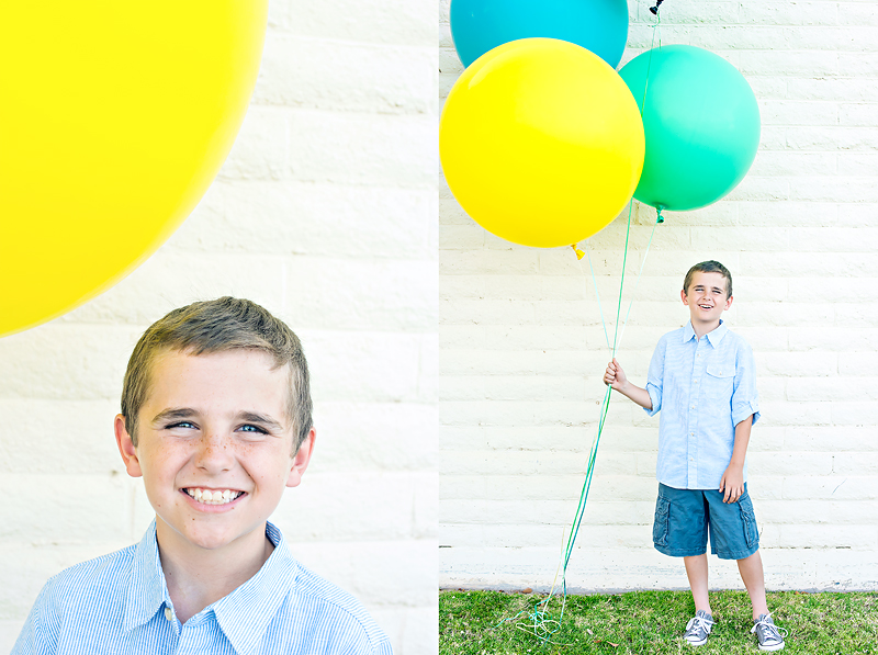 Giant Balloons Photos Yellow Green and Blue