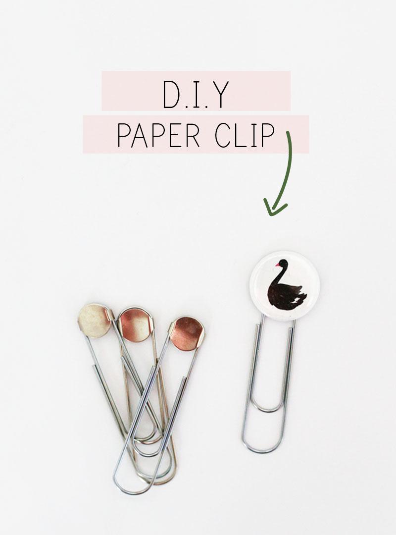 DIY Swan Paper Clip » Maggie Holmes Design