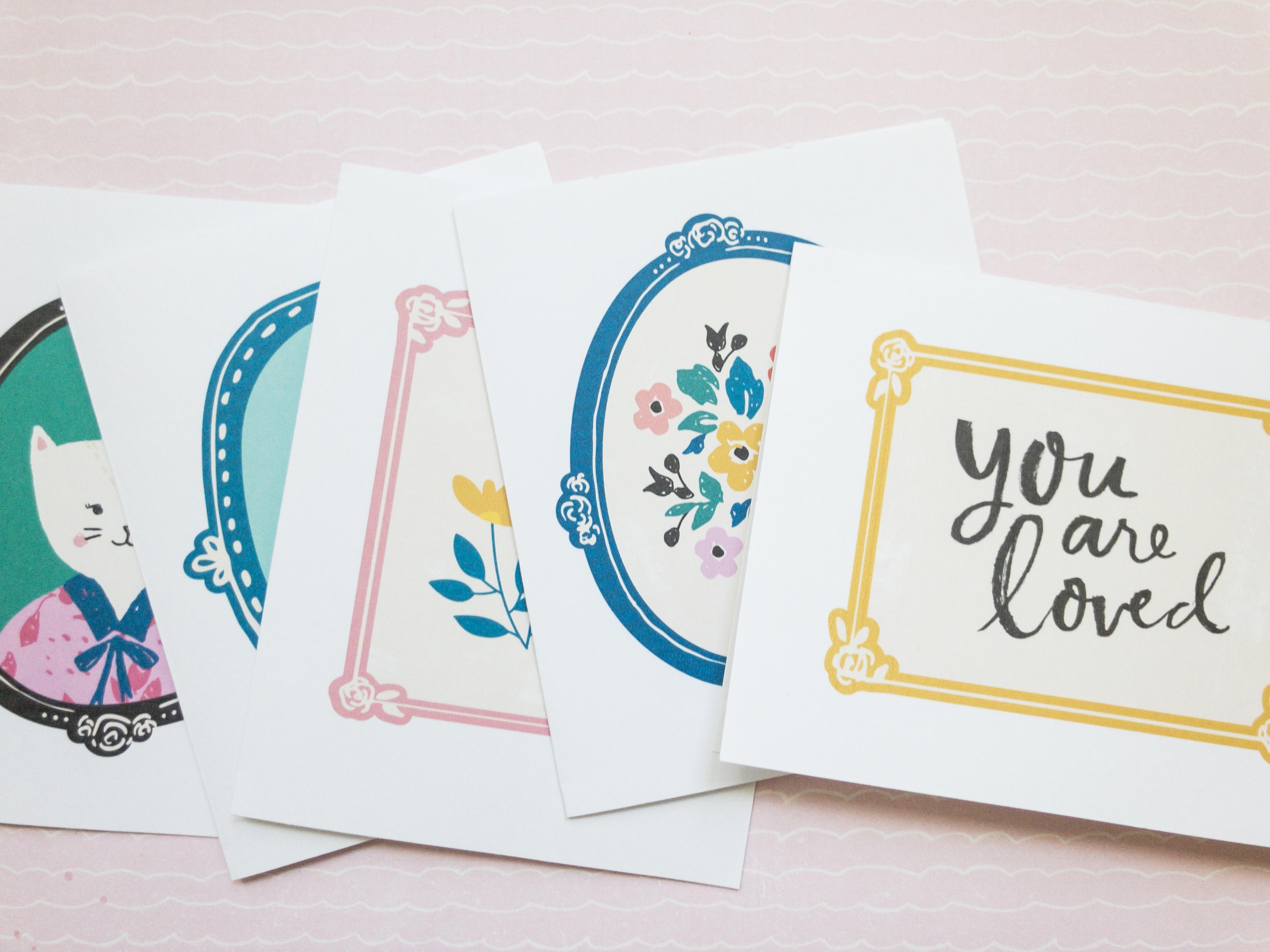 Willow Lane Greeting Card Printables Maggie Holmes Design