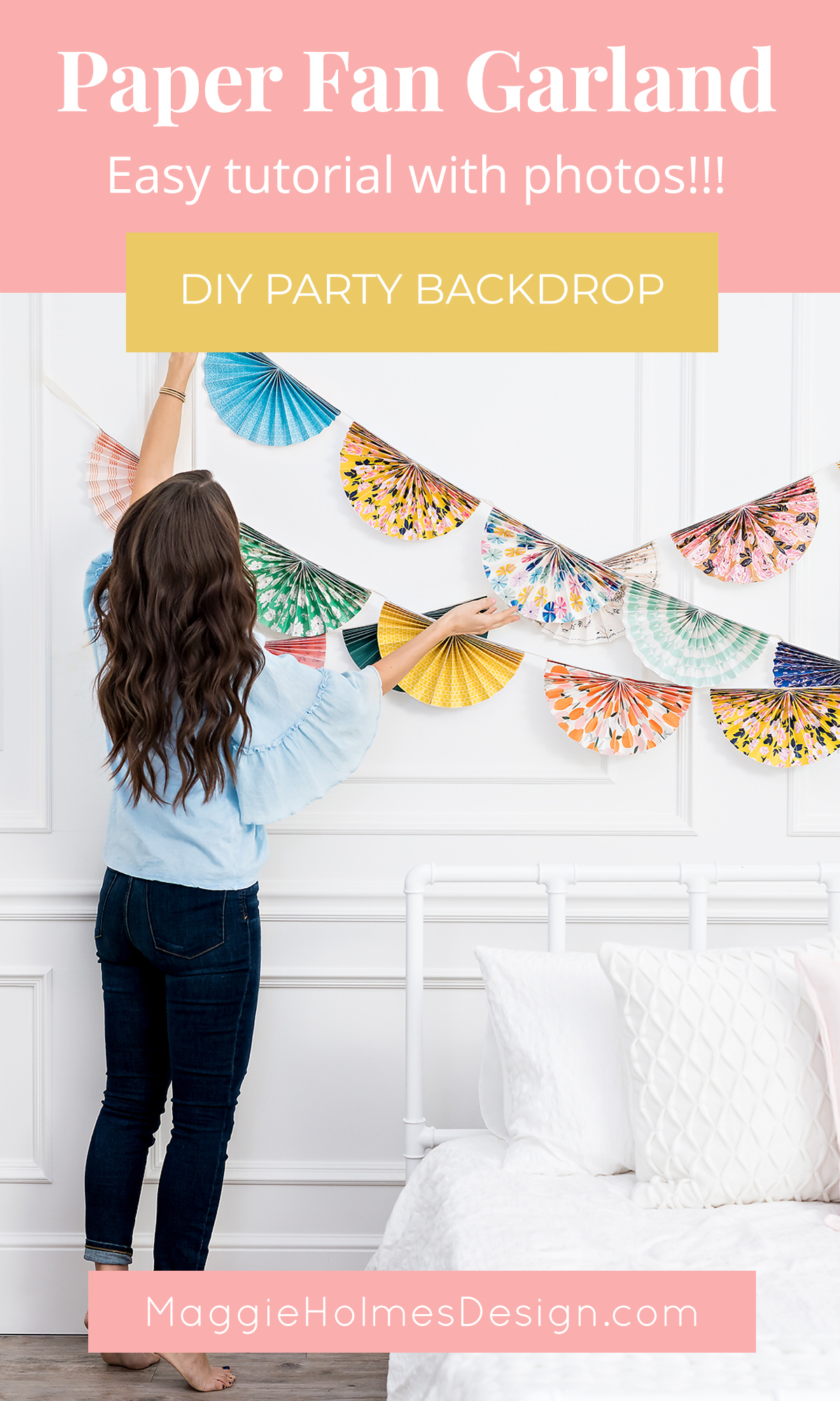 How to Make Paper Fan Party Decorations » Maggie Holmes Design