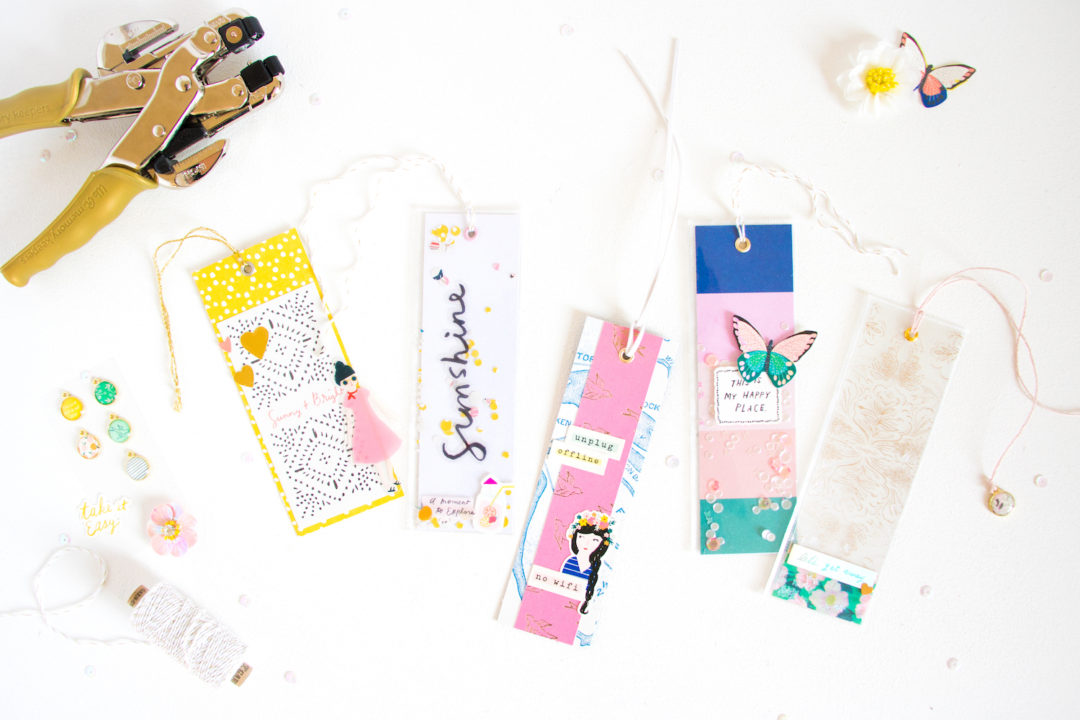 Cute Craft Ideas for Girls - Shaker Style DIY Bookmarks using Maggie Holmes Sunny Days Collection